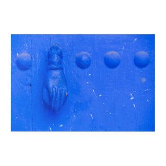 Blue Door Knocker Acrylic Wall Art