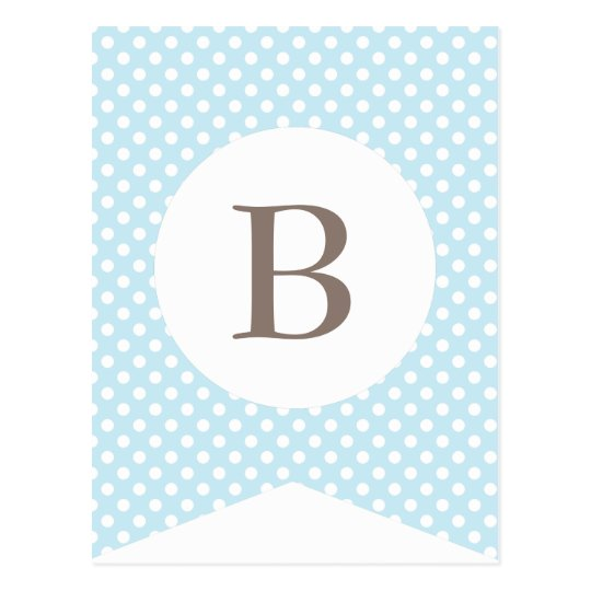 Blue Dot Baby Boy Party Flag Bunting Banner