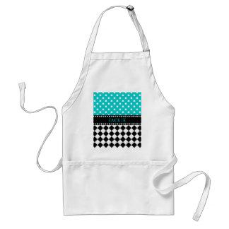 Blue Dot Checkerboard Aprons