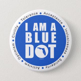 Blue Dot Florida 7.5 Cm Round Badge