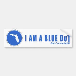 Blue Dot Florida Bumper Sticker