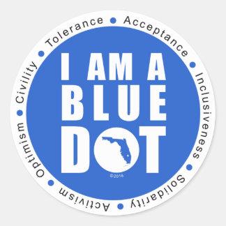 Blue Dot Florida Classic Round Sticker