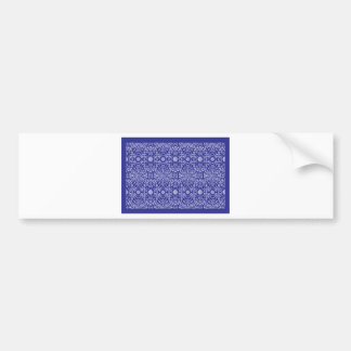 blue dot flower pattern bumper sticker