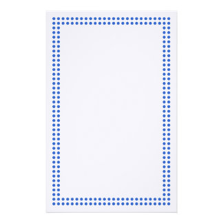 Blue Dot Frame Border Stationery