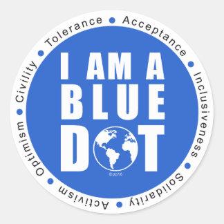 Blue Dot Global Classic Round Sticker