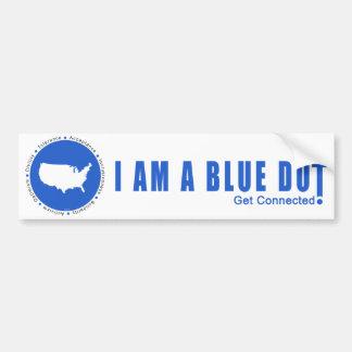 Blue Dot U.S.A. Bumper Sticker
