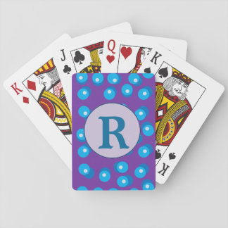 Blue Dots Letter Playing Cards