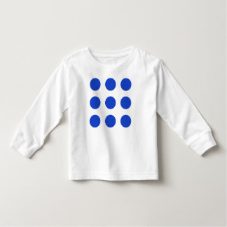 Blue Dots Long-Sleeved T-Shirt for Toddlers