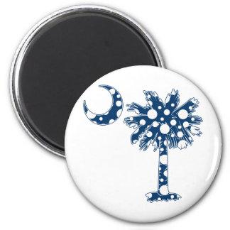Blue Dots Palmetto Magnet