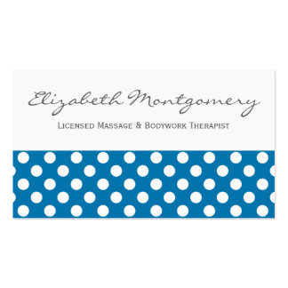 Blue Dots Professional Appointment Business Card Pack Of Standard Business Cards