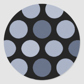 Blue Dots Stickers
