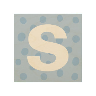 Blue Dots with Initial Letter Kids' Room Decor