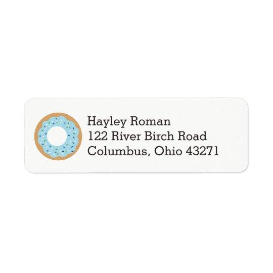 Blue Doughnut Baby Sprinkle Address Return Address Label