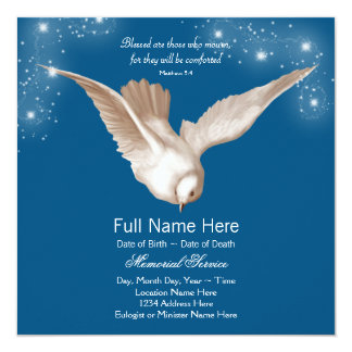 Blue Dove Memorial Service Announcements