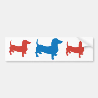 Blue Doxie, Dachshund Bumper Sticker
