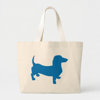 Blue Doxie, Dachshund Large Tote Bag