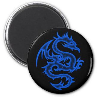 BLUE DRAGON 6 CM ROUND MAGNET