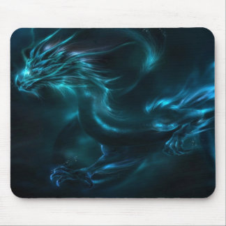 blue dragon abstract mouse mat
