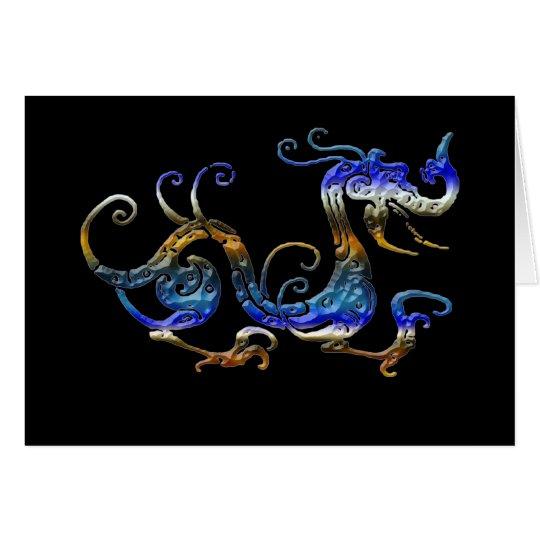 BLUE DRAGON Asian Art Cards