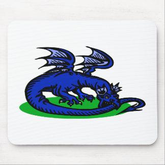 Blue Dragon Biting Tail Mousepads