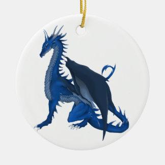 Blue Dragon Christmas Ornament