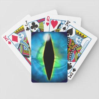 Blue Dragon Eye Bicycle Playing Cards