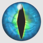 Blue Dragon Eye Classic Round Sticker