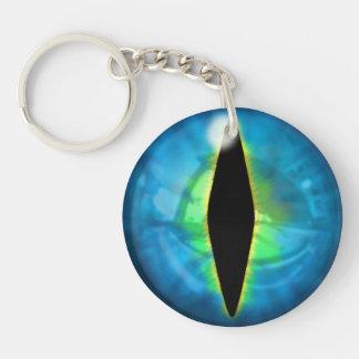 Blue Dragon Eye Double-Sided Round Acrylic Key Ring