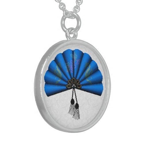 Blue Dragon Fan Pixel Art Custom Jewelry