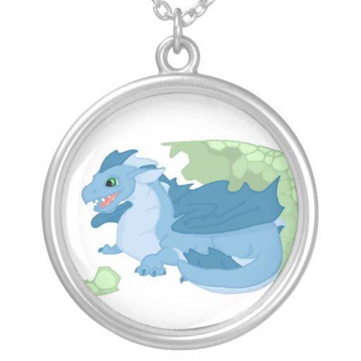 Blue Dragon Hatchling Necklace