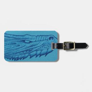 Blue Dragon Head Luggage Tag