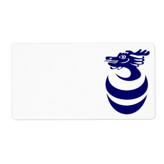 Blue dragon in Egg Label Shipping Label