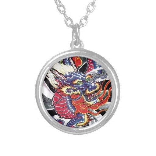 Blue Dragon Japanese tattoo design Jewelry