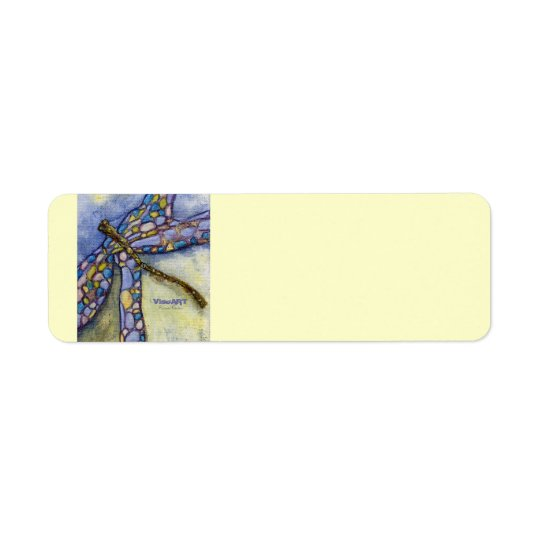 Blue Dragon - label Return Address Label