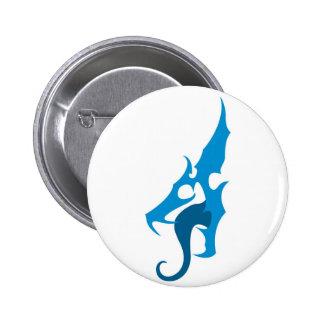 Blue Dragon Logo 6 Cm Round Badge