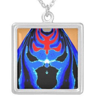 Blue Dragon Mask Pendant