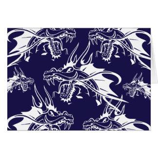 Blue Dragon Mythical Creature Fantasy Design Card