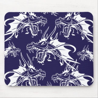 Blue Dragon Mythical Creature Fantasy Design Mouse Pad