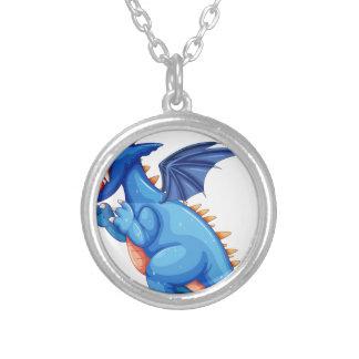 Blue dragon pendants