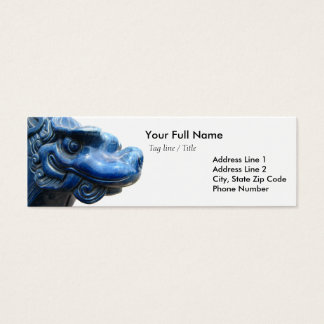 Blue dragon - Nietzsche quote Mini Business Card