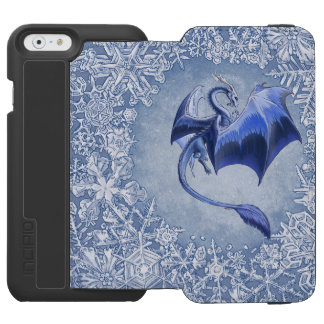 Blue Dragon of Winter Fantasy Nature Art Incipio Watson™ iPhone 6 Wallet Case