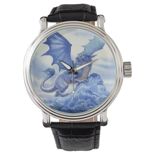 Blue Dragon on a Mountain Top Watch