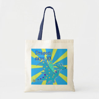 Blue Dragon says Hi Gift Tote Bags