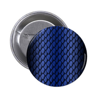 Blue Dragon Scales 6 Cm Round Badge