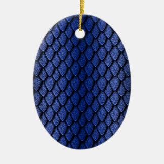 Blue Dragon Scales Ceramic Oval Decoration