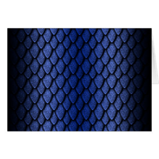 Blue Dragon Scales Greeting Card