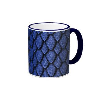 Blue Dragon Scales Coffee Mugs