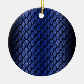 Blue Dragon Scales Round Ceramic Decoration