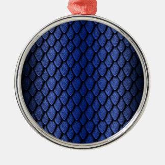 Blue Dragon Scales Silver-Colored Round Decoration
