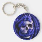 blue-dragon-skull key ring
